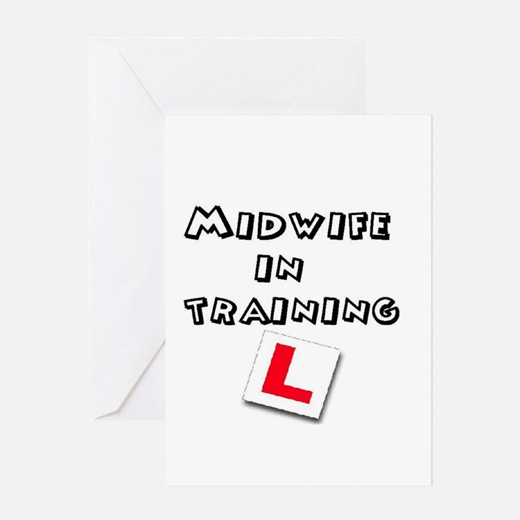 Cute Midwifery student Greeting Card