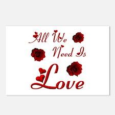 We Need Love Postcards (Package of 8)