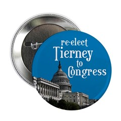 Re-elect Tierney to Congress button