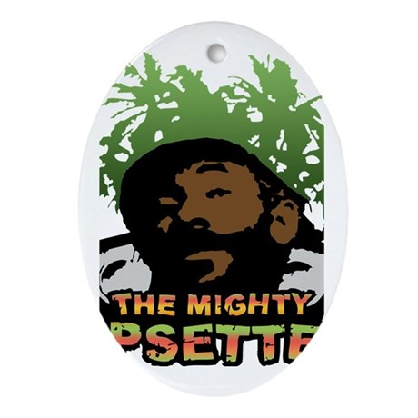 The Mighty Upsetter Oval Ornament