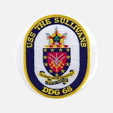"USS THE SULLIVANS 3.5"" Button (100 pack)"