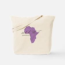 Amharic Grandma (lavender) Tote Bag
