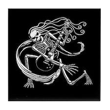 Skeleton Guitarist -crouch Tile Coaster