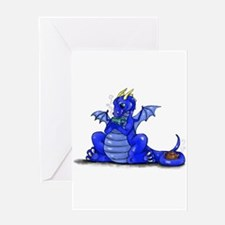 Cute Blue dragons Greeting Card