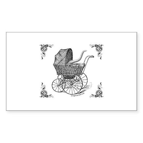 Steampunk Victorian cthulhu baby Sticker (Rectangl