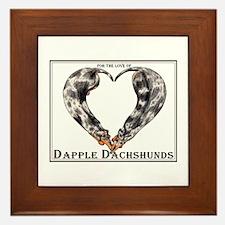 Love of Dapple Dachshunds Framed Tile