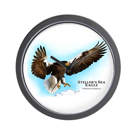 Steller's Sea Eagle Wall Clock