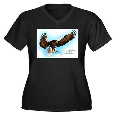 Steller's Sea Eagle Women's Plus Size V-Neck Dark