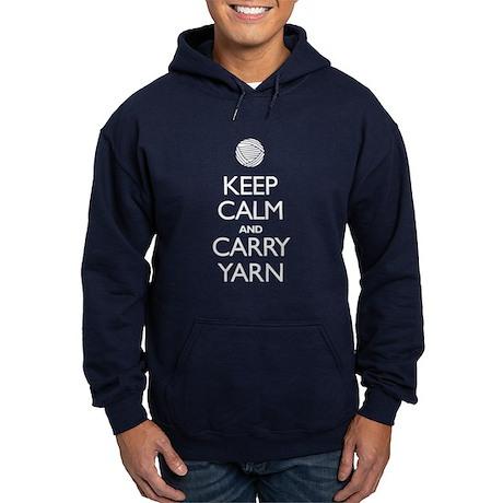 Keep Calm and Carry Yarn Hoodie