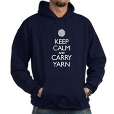 Keep Calm and Carry Yarn Hoodie