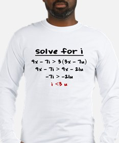Cute Algebra Long Sleeve T-Shirt