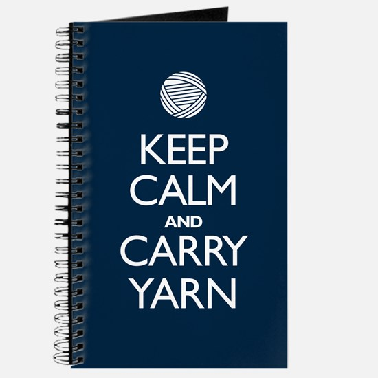 Navy Keep Calm and Carry Yarn Journal