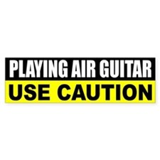 Playing Air Guitar Bumper Bumper Sticker