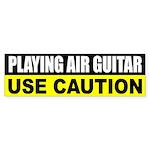 Playing Air Guitar Bumper Sticker
