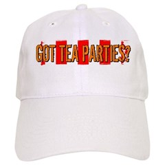 Got Tea Parties? Distressed Baseball Cap