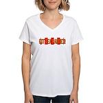 Got Tea Parties? Distressed Women's V-Neck T-Shirt