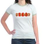 Got Tea Parties? Distressed Jr. Ringer T-Shirt