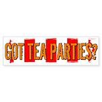 Got Tea Parties? Distressed Bumper Sticker (10 pk)