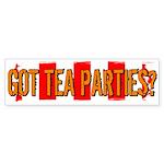 Got Tea Parties? Distressed Bumper Sticker