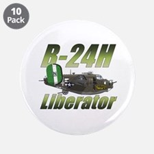 "B-24 Liberator 3.5"" Button (10 pack)"