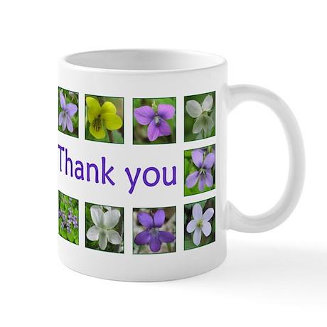 Violets Thank You Mug