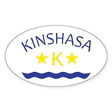 Kinshasa Oval Decal