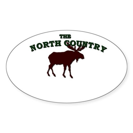 North Country Moose Sticker