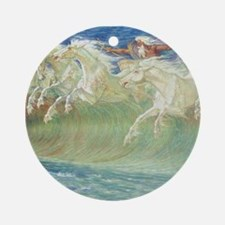 NEPTUNE'S HORSES Ornament (Round)