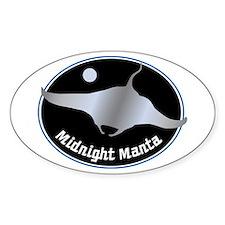 Midnight Manta Oval Decal