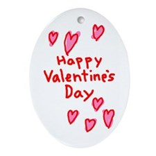 Valentines Hearts Oval Ornament