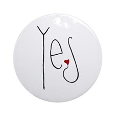 Yes Heart Ornament (Round)