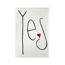 Yes Heart Rectangle Magnet (10 pack)