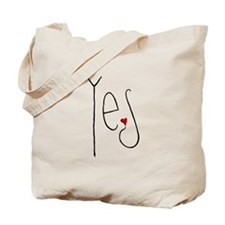 Yes Heart Tote Bag