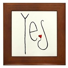 Yes Heart Framed Tile