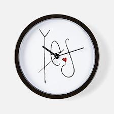 Yes Heart Wall Clock