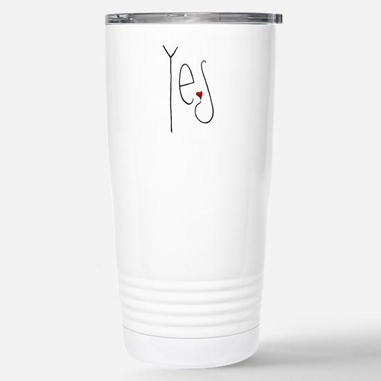Yes Heart Stainless Steel Travel Mug