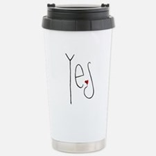 Yes Heart Travel Mug