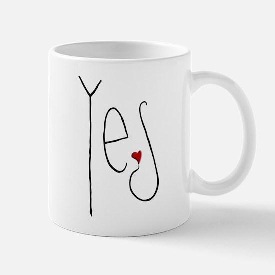 Yes Heart Mug