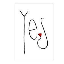 Yes Heart Postcards (Package of 8)