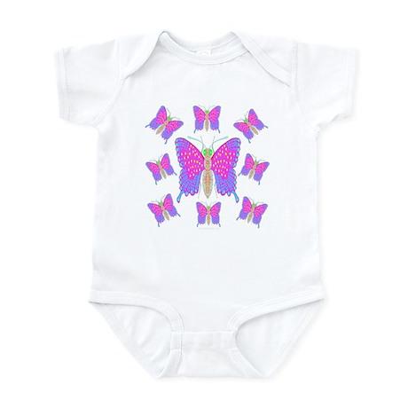 Neon Dragon Swallowtails Infant Creeper