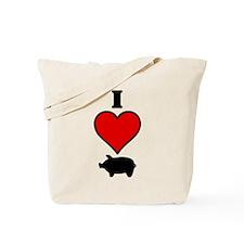 I heart Pig Tote Bag
