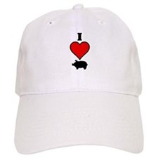 I heart Pig Baseball Cap