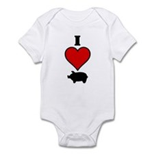 I heart Pig Infant Bodysuit