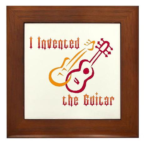 I Invented the Guitar Framed Tile