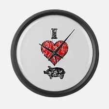 Vintage I Heart Pig Large Wall Clock