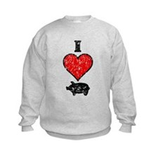 Vintage I Heart Pig Sweatshirt