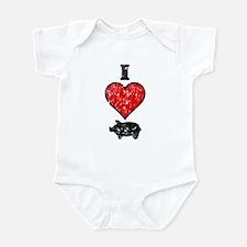 Vintage I Heart Pig Infant Bodysuit