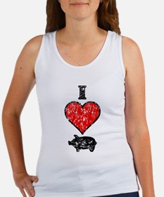 Vintage I Heart Pig Women's Tank Top