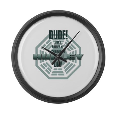 I'm Having A Hurley Day Large Wall Clock