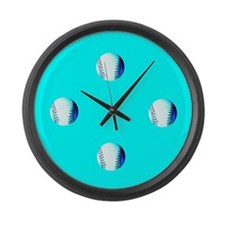 Always Time for Baseball Designer Large Wall Clock